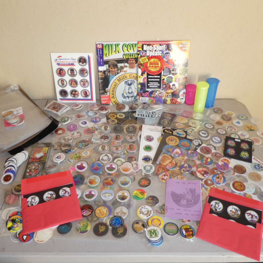 Lot # 239 - Huge Lot of 90's  Pogs, One Slammer and More (main image)