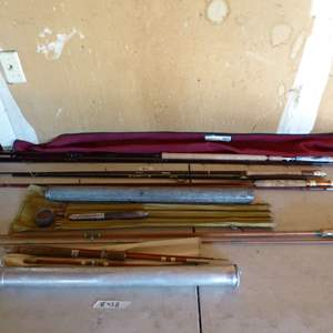 Lot # 458 - Vintage & Modern Fishing Poles