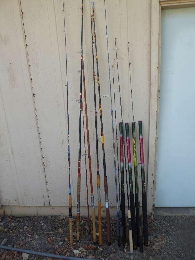 "Lot # 460 - Vintage Rods & Unusual ""Magic Boy"" Rods w/ no eyelets (main image)"