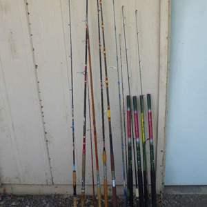 "Lot # 460 - Vintage Rods & Unusual ""Magic Boy"" Rods w/ no eyelets"