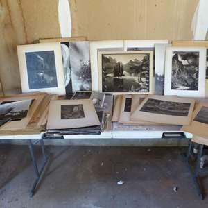 Lot # 464 - Old Black & White Photos (1940's) (Many of Yosemite & Yellowstone)