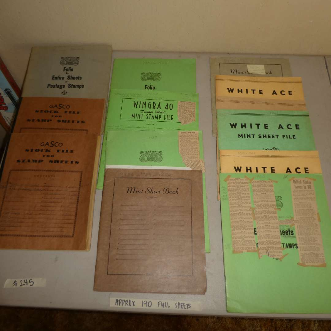 Lot # 245 - 12 Vintage Stamp Albums (Earliest Date 1942, Latest Date 1965) (main image)