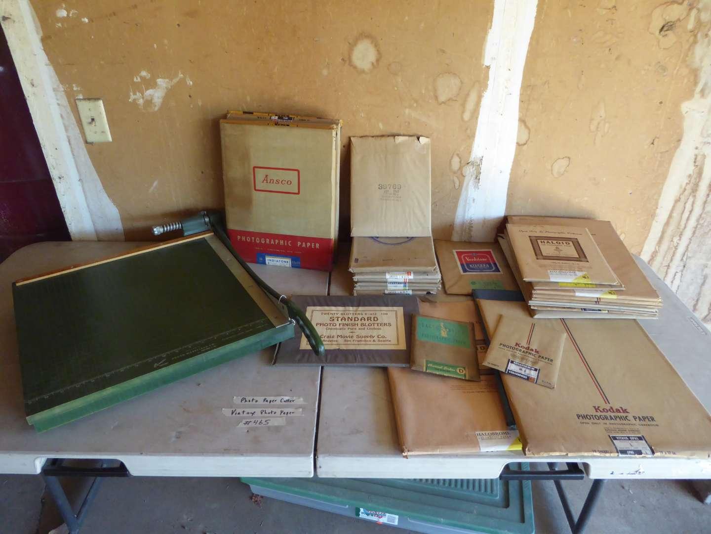 Lot # 465 - Vintage Photo Paper & Photo Paper Cutter (main image)