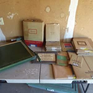 Lot # 465 - Vintage Photo Paper & Photo Paper Cutter