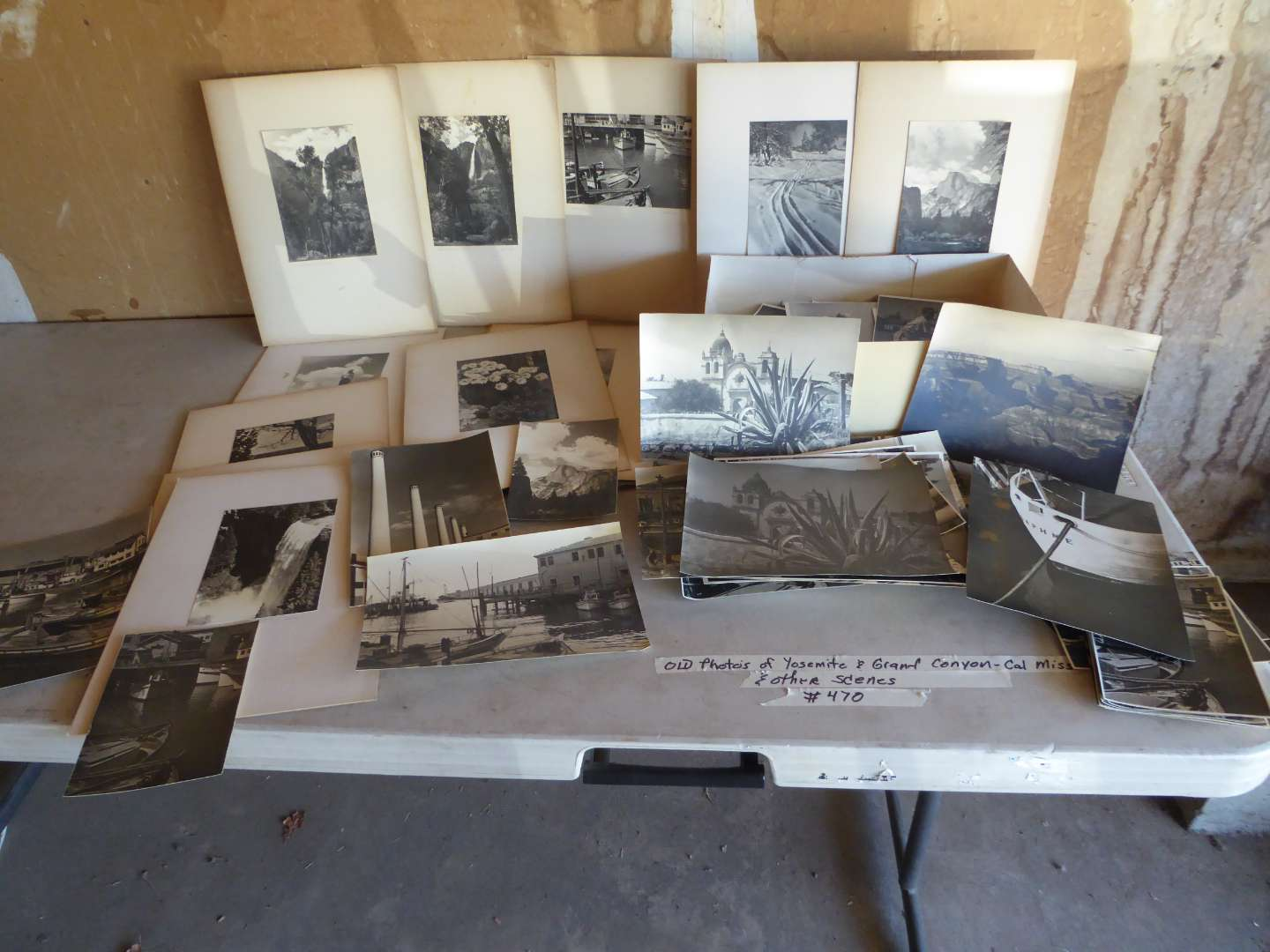 Lot # 470 - Vintage Black & White Photos (Yosemite, Grand Canyon -Cal Mission & Other Scenes) (main image)