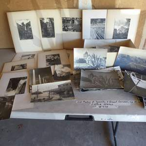 Lot # 470 - Vintage Black & White Photos (Yosemite, Grand Canyon -Cal Mission & Other Scenes)
