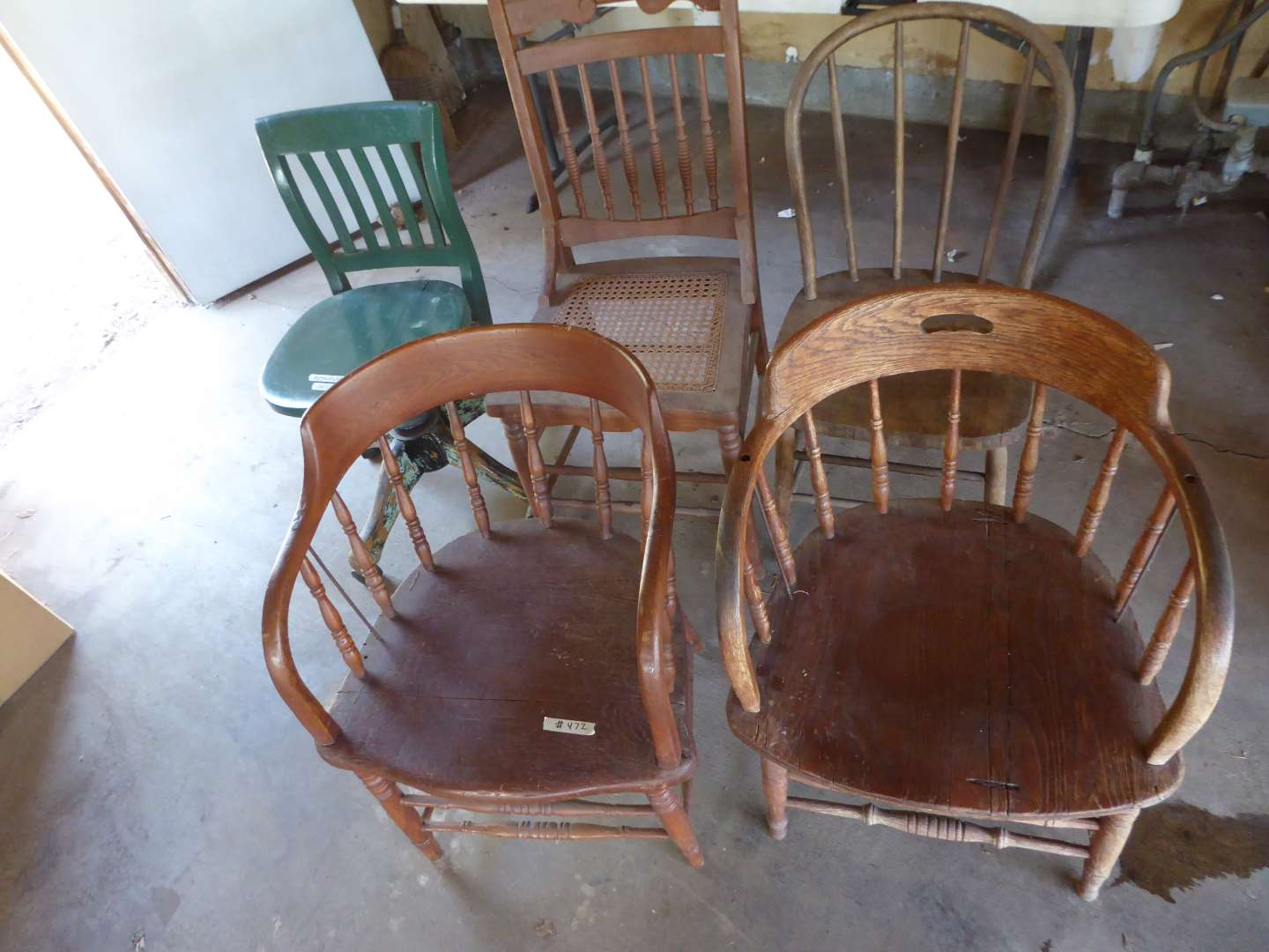 Lot # 472 - Five Vintage Chairs (See Photos) (main image)