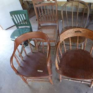 Lot # 472 - Five Vintage Chairs (See Photos)