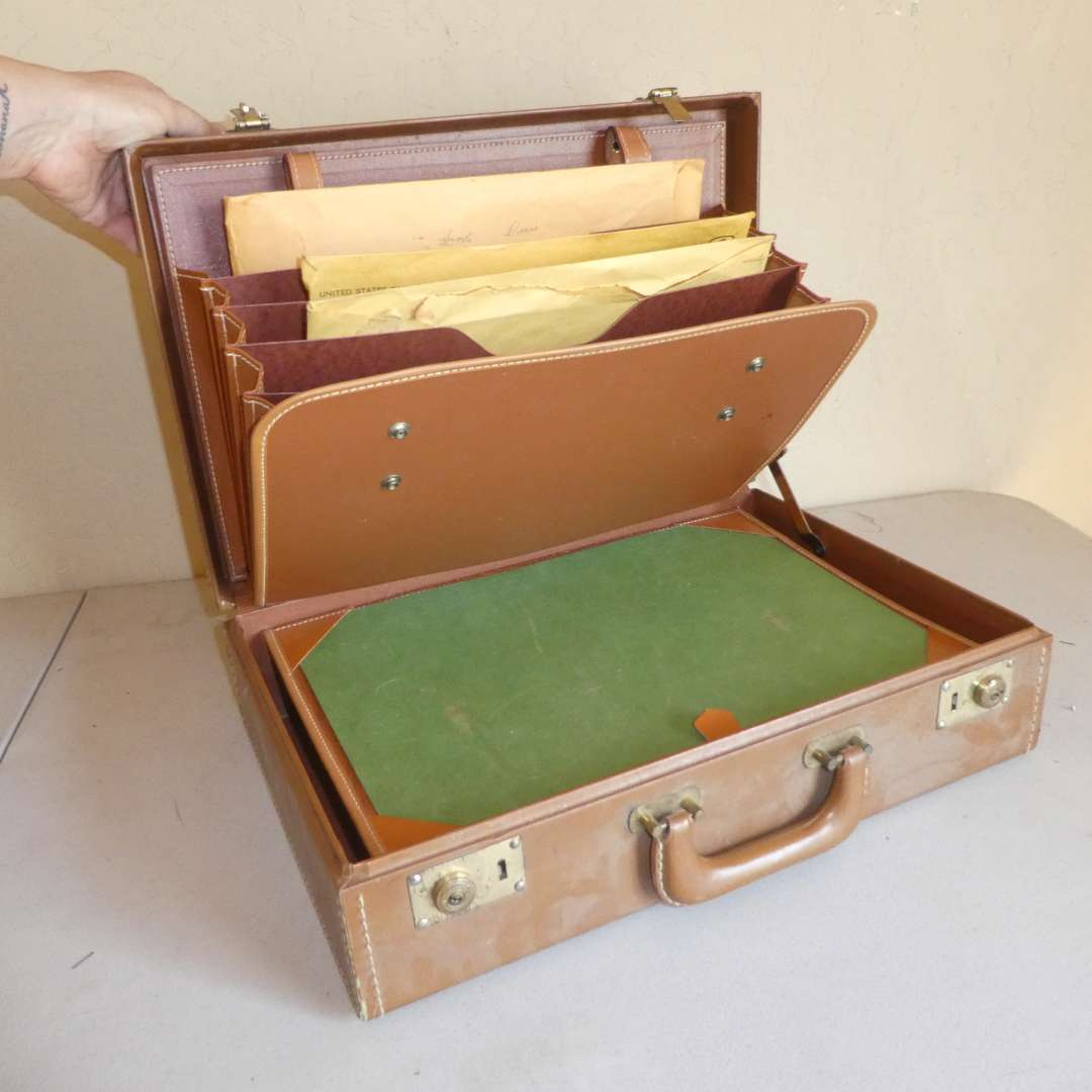Lot # 251 - Vintage American Stamp Plate Blocks Collection w/ Stamp Briefcase  (main image)