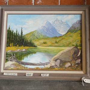 Auction Thumbnail for: Lot # 44 Original 1993 Oil Painting Of The Tetons By Ken Payne