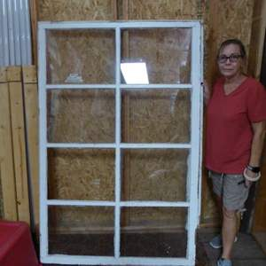 Lot # 411 - Large Vintage Window (Missing One Glass Panel)