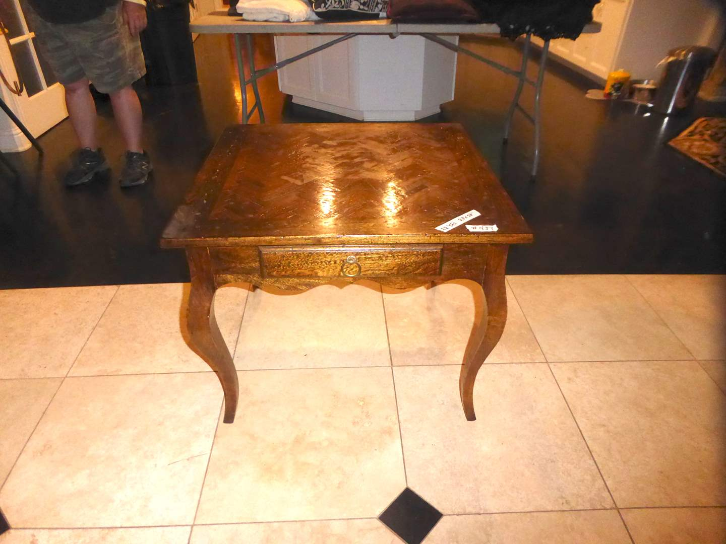 Lot # 437 - Wooden End Table W/Drawer  (main image)