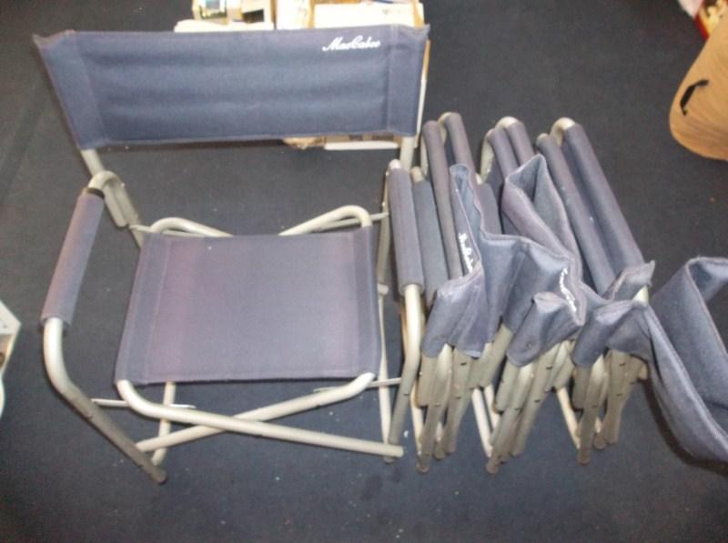 4 Nice Folding Outdoor Chairs Metal (main image)