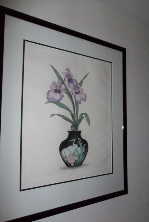 Sign & Numbered Orchids Lithograph (main image)