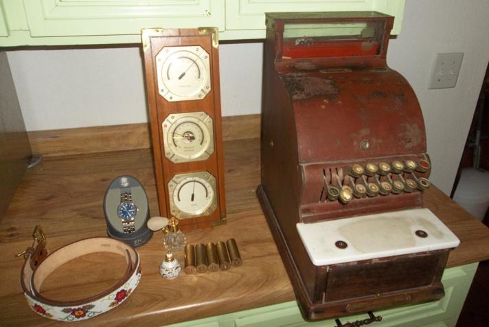 Antique National Cash Register, Vintage Barometer & Misc Lot (main image)