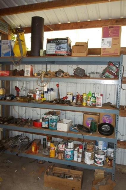 Shelf #4 Contents & 8 foot  Shelf  (main image)