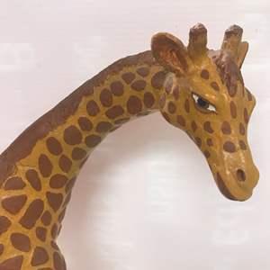 Lot # 37 - Vintage Plaster Art, Mama Giraffe with Baby