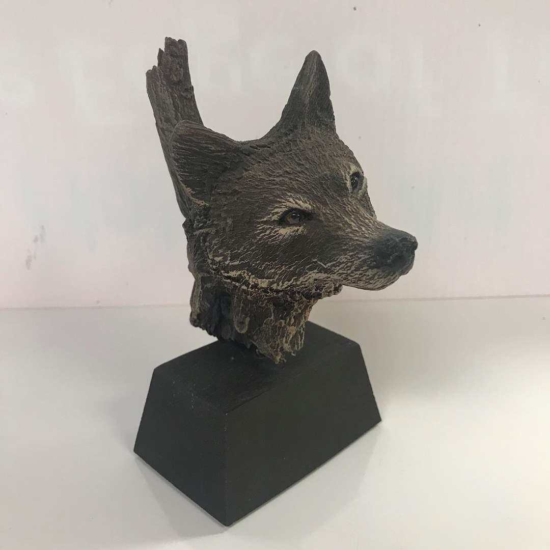 Lot # 42 - Rick Cain Sculpture, Wolf Trail Ltd Edition 600/2000 (main image)