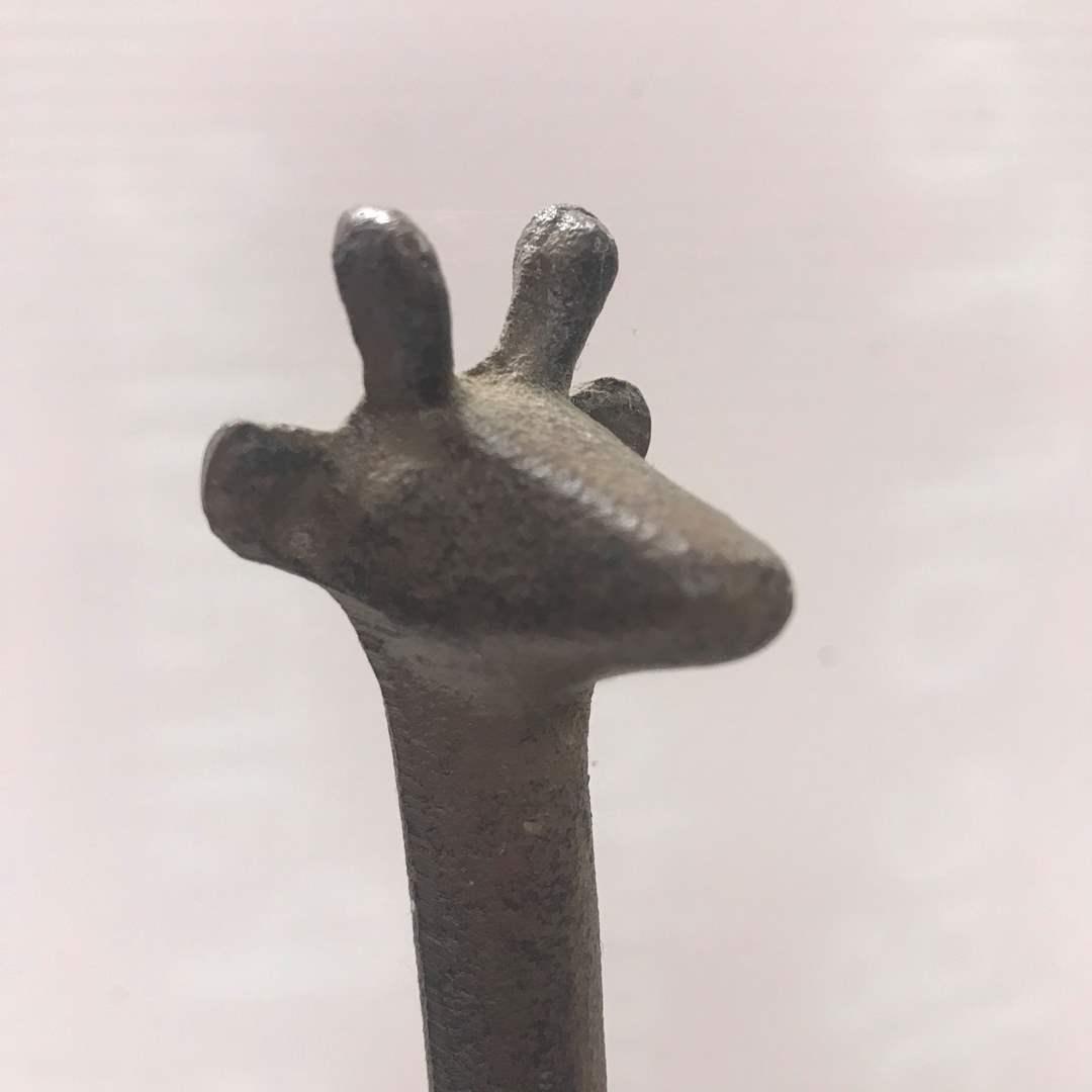 Lot # 47 - Metal Material Garaffe Statue / Figurine (main image)