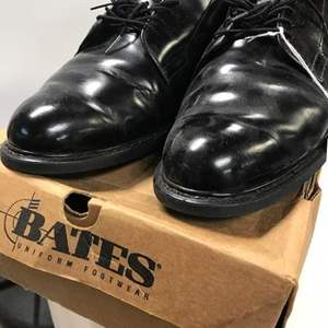 Lot # 9 - Bates Uniform Shoes, Oxford Style in Black and some Polish