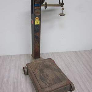 Lot # 26 - Vintage Early 1900's Fairbanks Scale With Decal Logo- Designers Dream item
