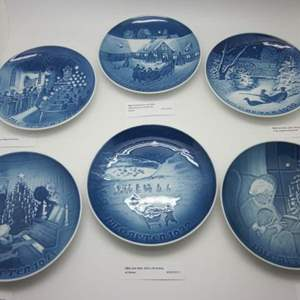 Lot # 85 - B & G Bing & Grondahl: 9 Vintage Collector Plates 1930s, 1960s, 1970s
