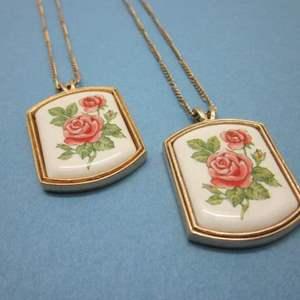 Lot # 2 - Vintage Avon Porcelain Necklaces - 1980's