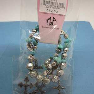 Lot # 19 - Silver toned & Accented with Turquoise Like Stones & Crosses