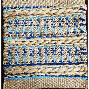Lot # 12 - Area Rug, Bleached Jute, Size 5 x 7