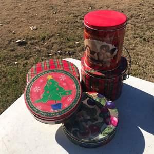 Lot # 8 - Christmas / Holiday Tins, Multiple Sizes