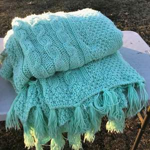 Lot # 16 - Beautiful Crocheted Blanket, Very Large