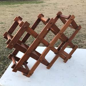 Lot # 20 - Wooden, Foldable Wine Rack
