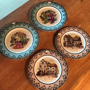Lot # 2 - 4 Decorative Plates from Barratt's Delphatic White Tablewear England