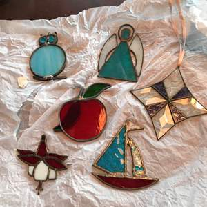 Lot # 3 - 6 Stained Glass Art Pieces