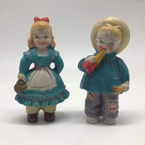 Lot # 25 - Vintage Girl and Boy Figurines