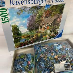 Lot # 4 - Ravensburger Premium Soft 1500 Piece Puzzle - Country Cottage