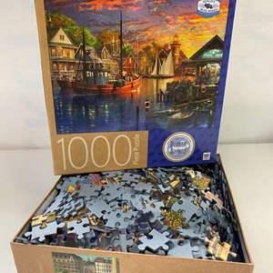 Lot # 22 - MB Inc, 1000 Piece Puzzle, American Harbour Sunset