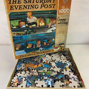 Lot # 25 - Norman Rockwell, 1000 Piece Puzzle, The Saturday Evening Post, Coming and Going