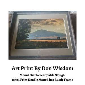 Lot # 10 - Framed, Colorful 18x24 Photo, Double Matted from Don Wisdom Photography. (Auction Item)