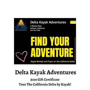 Lot # 74 - Delta Kayak Adventures $100 Gift Certificate (Auction Item)