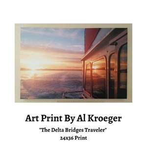 Lot # 80 - Al Kroeger Print, The Delta Bridges Traveler (Auction Item)