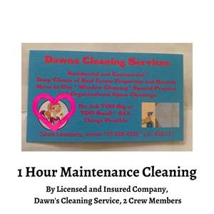 Lot # 81 - Maintenance Cleaning, Includes 2 People from Dawns Cleaning Service (Auction Item)