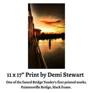 Lot # 82 - 11 x 17 Print by Demi Stewart, Share the Delta Love, Paintersville Bridge