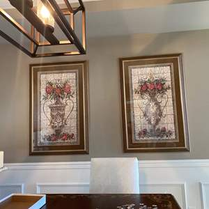 Lot#2- Two Large Quality Wall Pictures * Nice Mats & Heavy Frames. This is listed as buy now. $40.00 plus tax and premium.