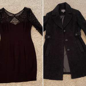 "Lot # 14- ""Guess"" Little Black Dress, Tag still on * Cute Like New Gallery Shorty Coat,  size Medium Petite."