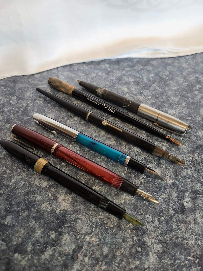 Lot# 54 - Fountain Pens * Some with 14K Tips  (main image)