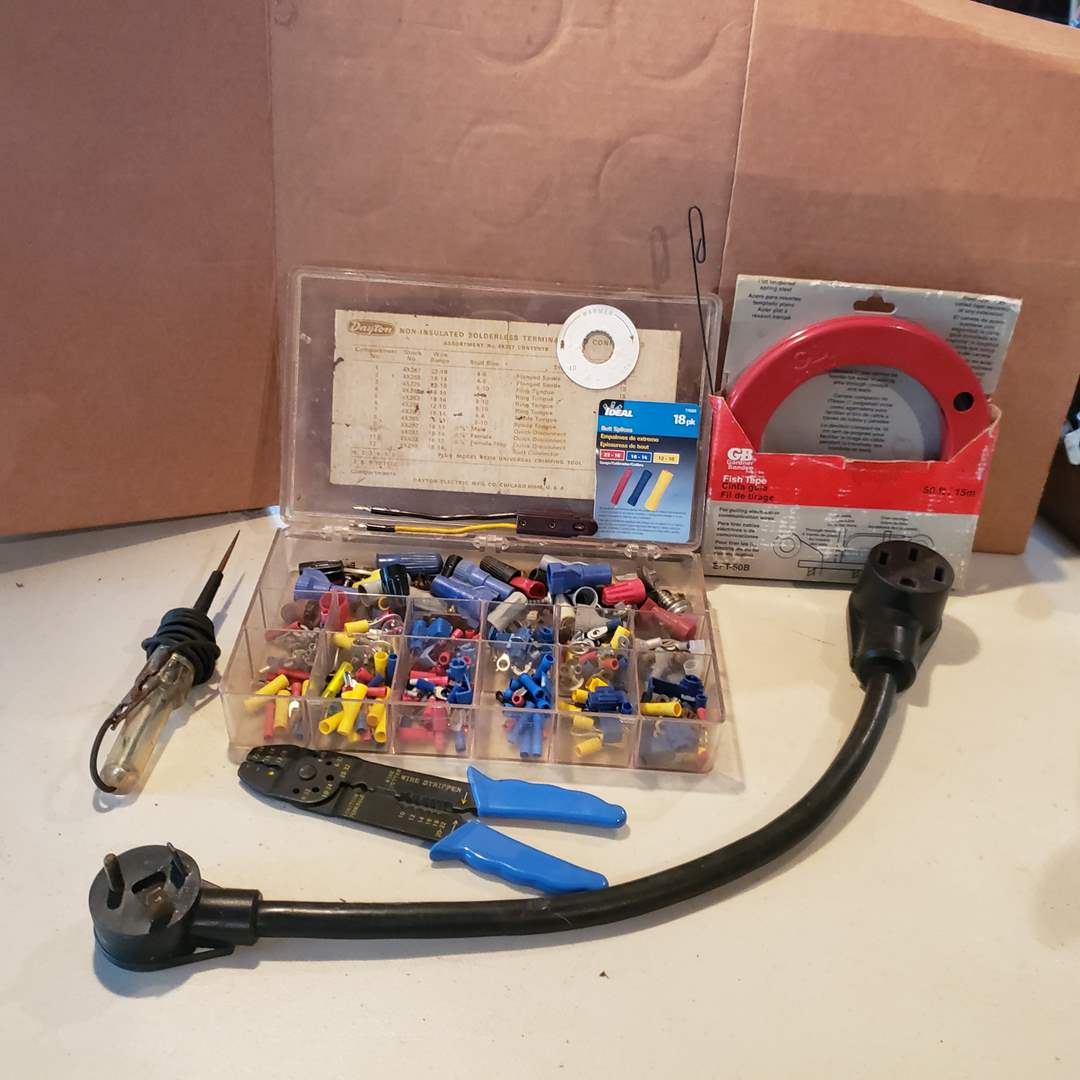 Lot# 29 - NIB Wire Puller * Wire Cutter/Striper * Tester * Tools (main image)