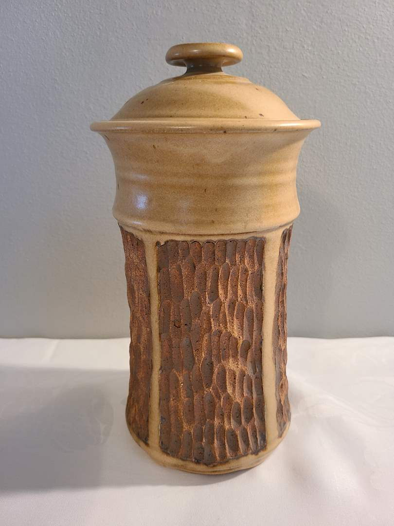 Lot# 156 - Pottery Piece with Lid (main image)