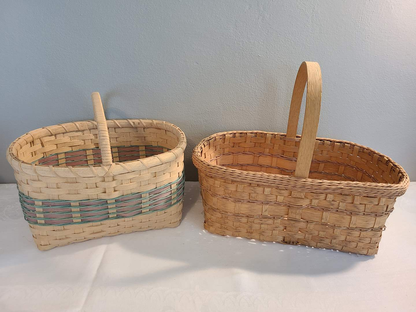 Lot# 141 - 2 Beautiful Homemade Baskets made by Family Member (main image)