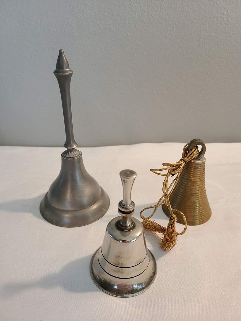 Lot# 173 - 3 Metal Bells (main image)